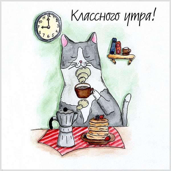 Картинка классного утра смешная - скачать бесплатно на otkrytkivsem.ru