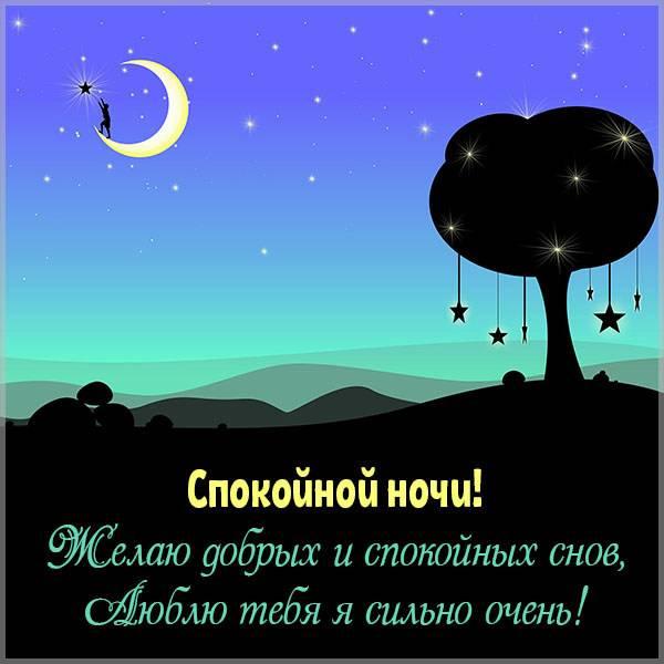 Картинка любимому мужчине с надписью спокойной ночи - скачать бесплатно на otkrytkivsem.ru