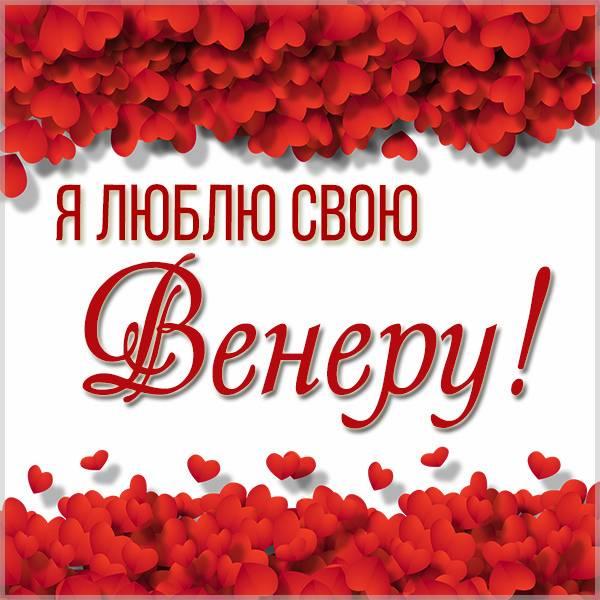 Картинка люблю свою Венеру - скачать бесплатно на otkrytkivsem.ru