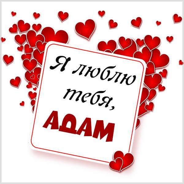 Картинка люблю тебя Адам - скачать бесплатно на otkrytkivsem.ru