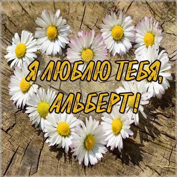 Картинка люблю тебя Альберт - скачать бесплатно на otkrytkivsem.ru