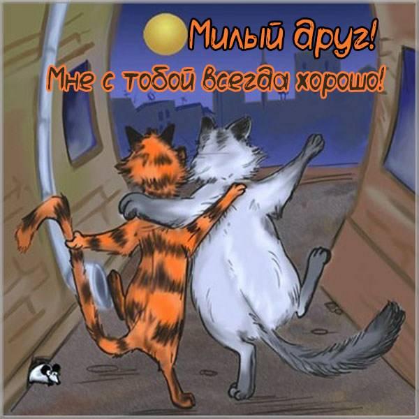 Картинка милому другу с надписями - скачать бесплатно на otkrytkivsem.ru