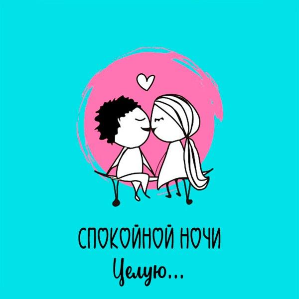 Картинка мужчине спокойной ночи целую - скачать бесплатно на otkrytkivsem.ru