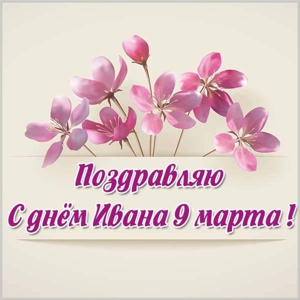 Картинка на 9 марта с днем Ивана - скачать бесплатно на otkrytkivsem.ru