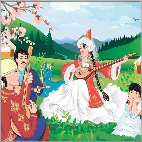 Картинка на праздник Наурыз для детей - скачать бесплатно на otkrytkivsem.ru