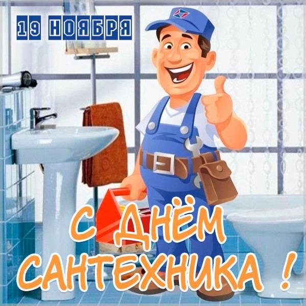 Картинка на Всемирный день сантехника 19 ноября - скачать бесплатно на otkrytkivsem.ru