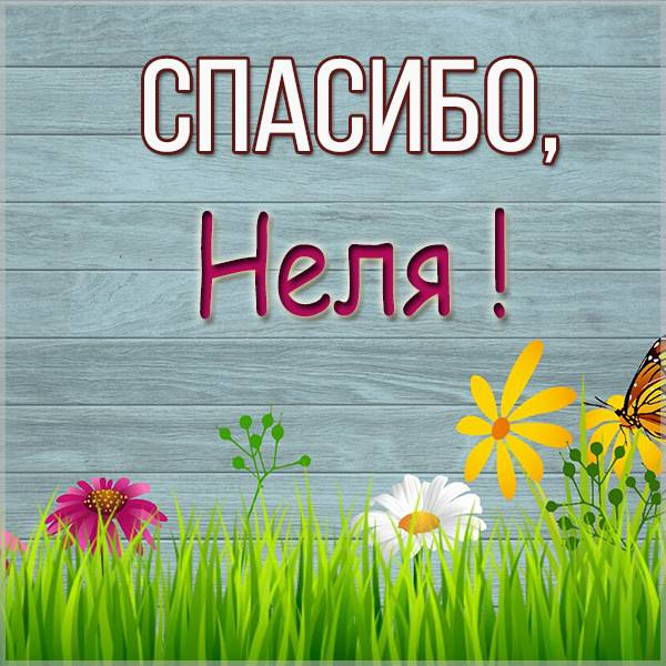 Картинка Неля спасибо - скачать бесплатно на otkrytkivsem.ru