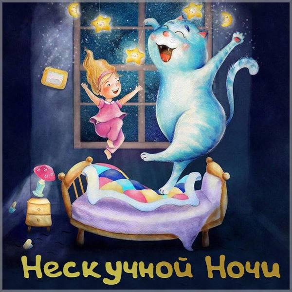 Картинка нескучной ночи прикольная смешная - скачать бесплатно на otkrytkivsem.ru