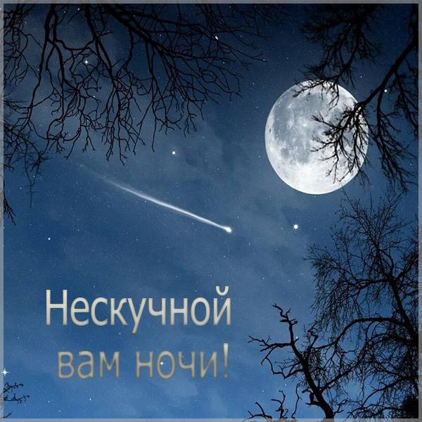 Картинка нескучной вам ночи - скачать бесплатно на otkrytkivsem.ru