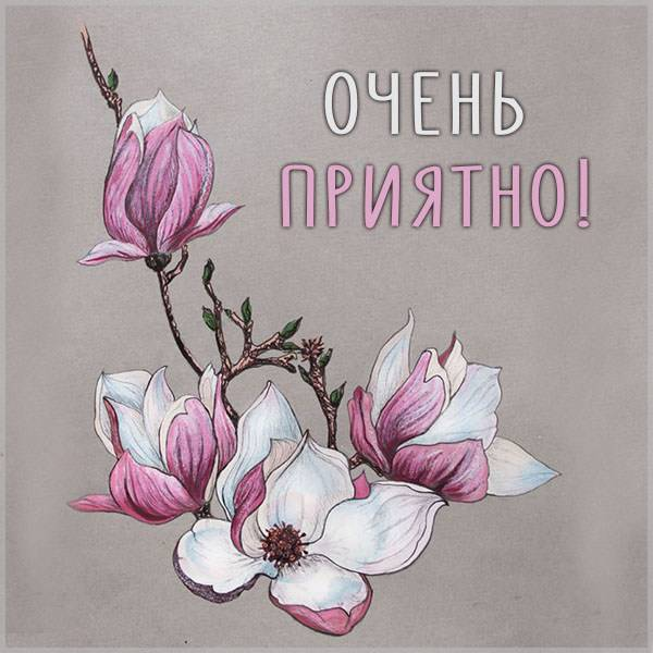 Картинка очень приятно - скачать бесплатно на otkrytkivsem.ru