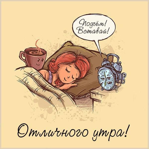 Картинка отличного утра с приколом - скачать бесплатно на otkrytkivsem.ru