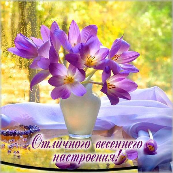 Картинка отличного весеннего настроения - скачать бесплатно на otkrytkivsem.ru