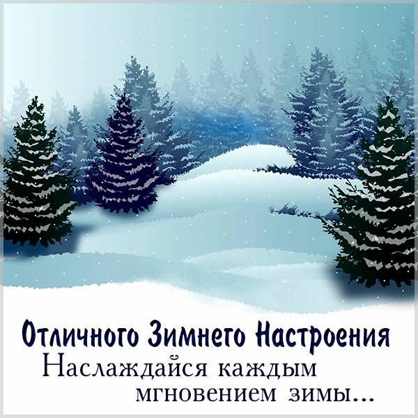 Картинка отличного зимнего настроения - скачать бесплатно на otkrytkivsem.ru