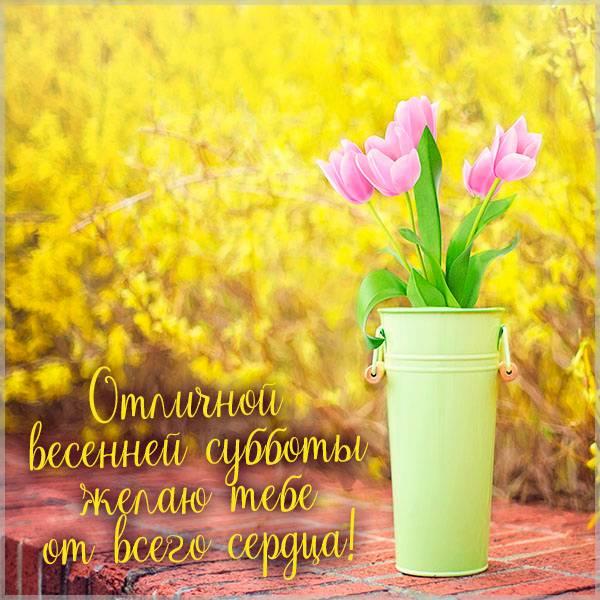 Картинка отличной весенней субботы - скачать бесплатно на otkrytkivsem.ru