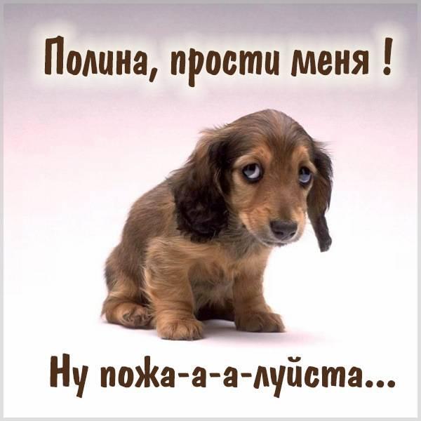 Картинка Полина прости меня - скачать бесплатно на otkrytkivsem.ru