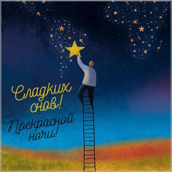 Картинка прекрасной ночи сладких снов - скачать бесплатно на otkrytkivsem.ru