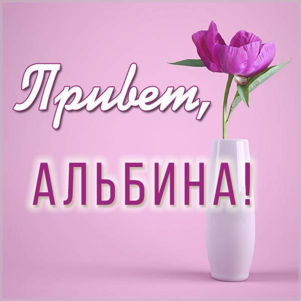 Картинка привет Альбина - скачать бесплатно на otkrytkivsem.ru