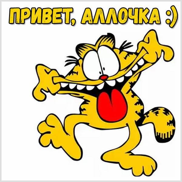 Картинка привет Аллочка - скачать бесплатно на otkrytkivsem.ru
