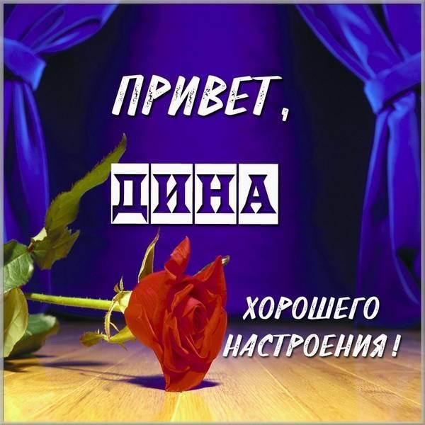 Картинка привет Дина - скачать бесплатно на otkrytkivsem.ru
