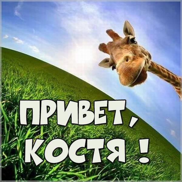 Картинка привет Костя - скачать бесплатно на otkrytkivsem.ru