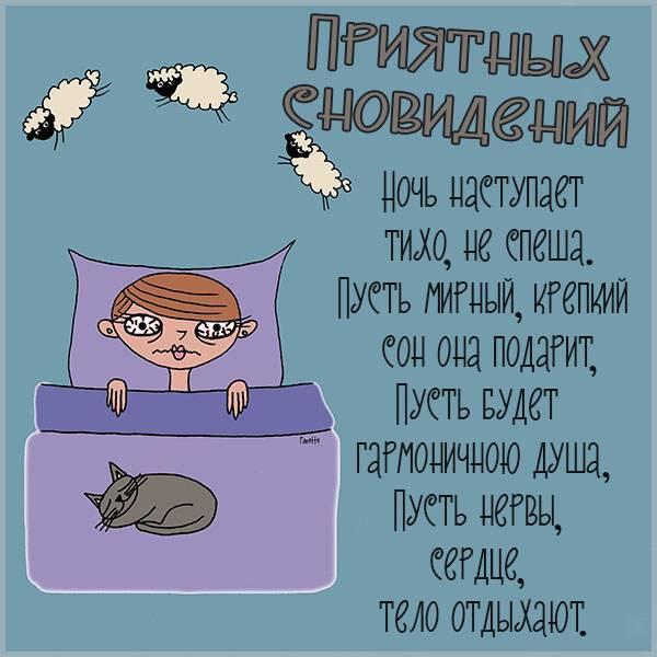 Картинка приятных сновидений мужчине с приколом - скачать бесплатно на otkrytkivsem.ru