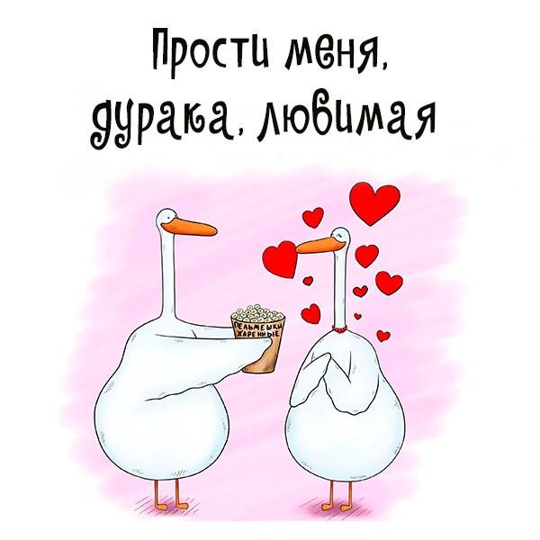 Картинка прости меня дурака любимая - скачать бесплатно на otkrytkivsem.ru