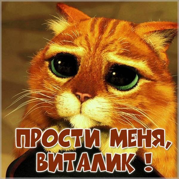 Картинка прости меня Виталик - скачать бесплатно на otkrytkivsem.ru
