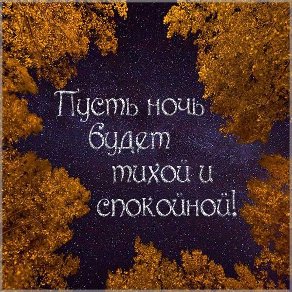Картинка пусть ночь будет тихой и спокойной - скачать бесплатно на otkrytkivsem.ru
