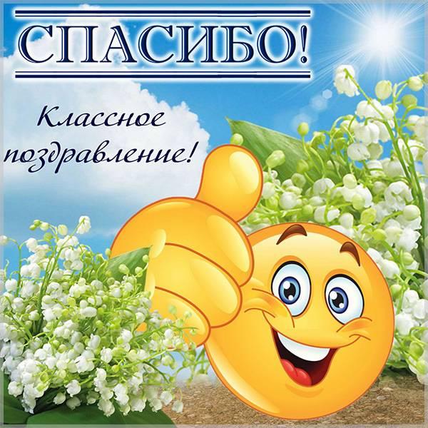 Картинка с благодарностью спасибо за поздравления - скачать бесплатно на otkrytkivsem.ru