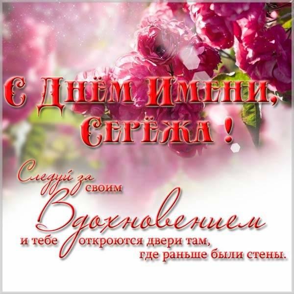Картинка с днем имени Сережа - скачать бесплатно на otkrytkivsem.ru