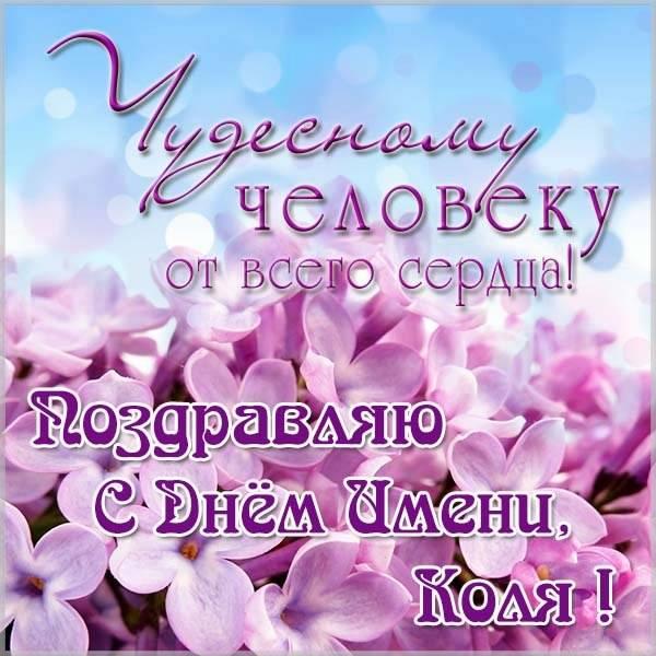 Картинка с днем Коли - скачать бесплатно на otkrytkivsem.ru
