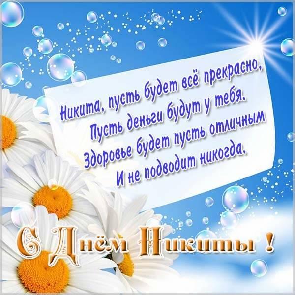Картинка с днем Никиты со стихами - скачать бесплатно на otkrytkivsem.ru