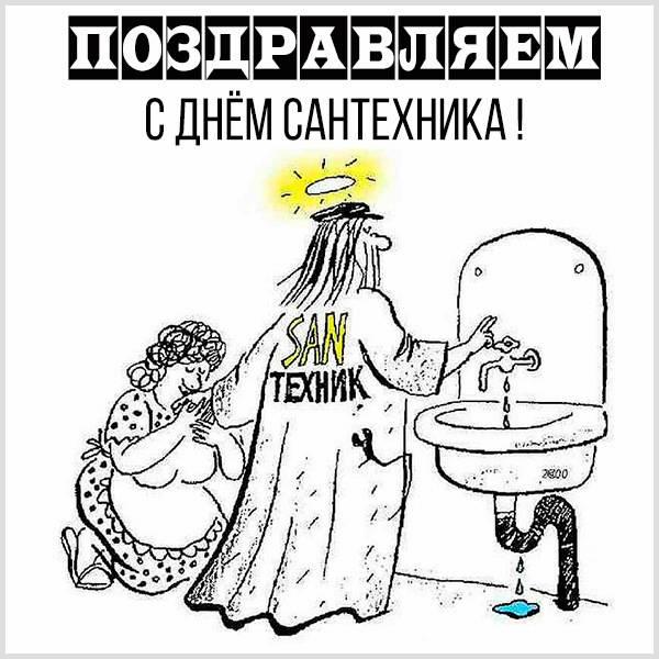Картинка с днем сантехника с юмором - скачать бесплатно на otkrytkivsem.ru