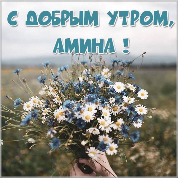 Картинка с добрым утром Амина - скачать бесплатно на otkrytkivsem.ru