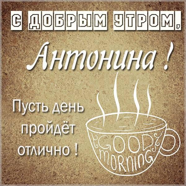 Картинка с добрым утром Антонина - скачать бесплатно на otkrytkivsem.ru