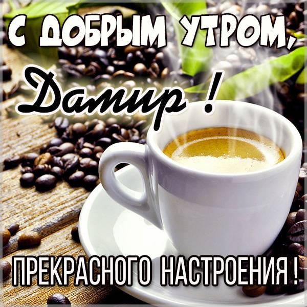 Картинка с добрым утром Дамир - скачать бесплатно на otkrytkivsem.ru