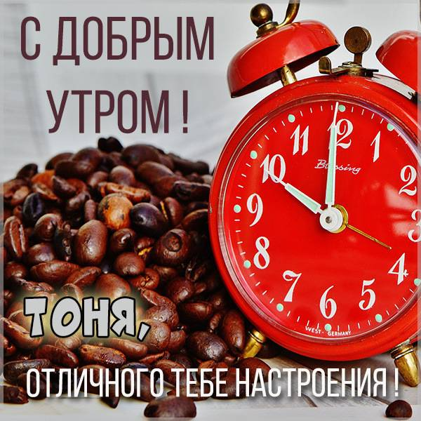 Картинка с добрым утром для Тони - скачать бесплатно на otkrytkivsem.ru