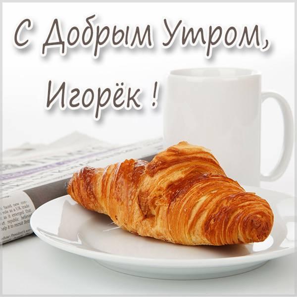 Картинка с добрым утром Игорек - скачать бесплатно на otkrytkivsem.ru