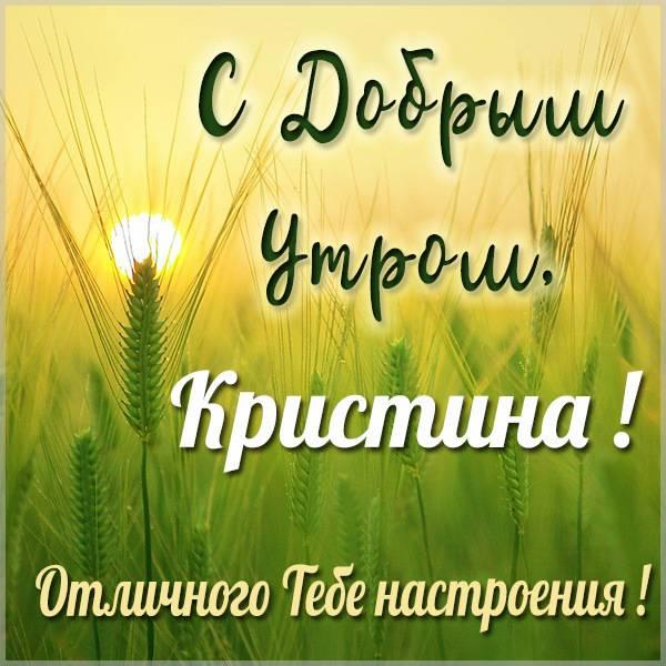 Картинка с добрым утром Кристина - скачать бесплатно на otkrytkivsem.ru