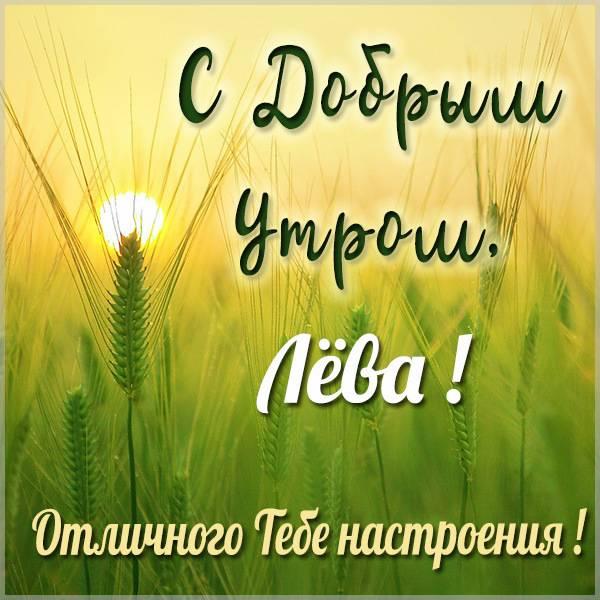 Картинка с добрым утром Лева - скачать бесплатно на otkrytkivsem.ru