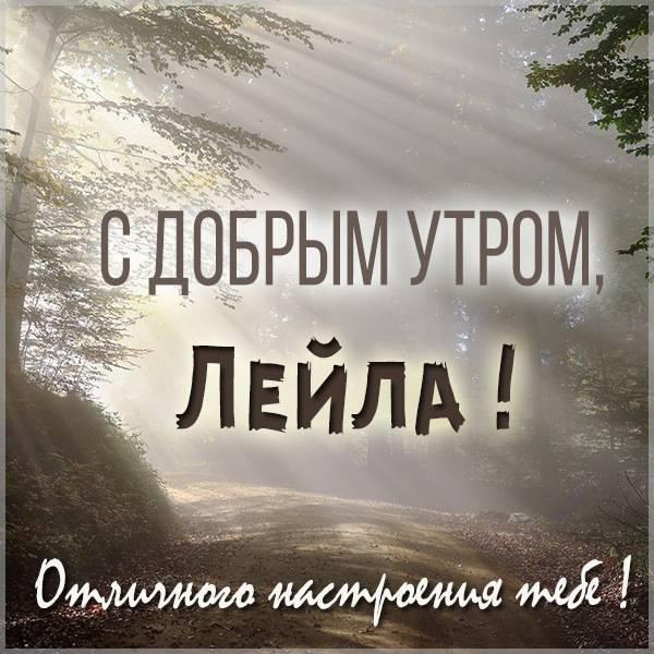 Картинка с добрым утром Лейла - скачать бесплатно на otkrytkivsem.ru