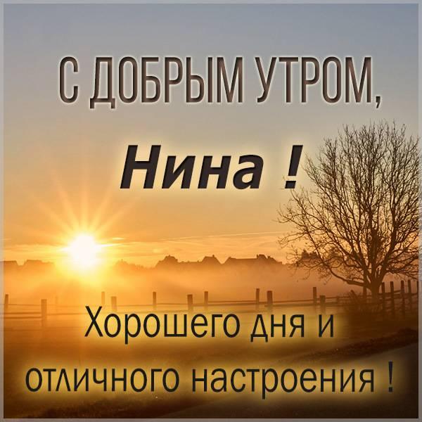 Картинка с добрым утром Нина - скачать бесплатно на otkrytkivsem.ru