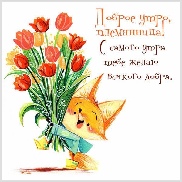 Картинка с добрым утром племяннице - скачать бесплатно на otkrytkivsem.ru