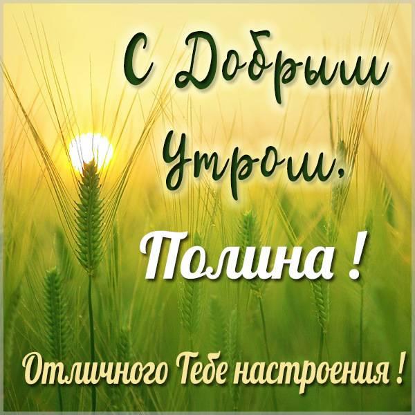 Картинка с добрым утром Полина - скачать бесплатно на otkrytkivsem.ru