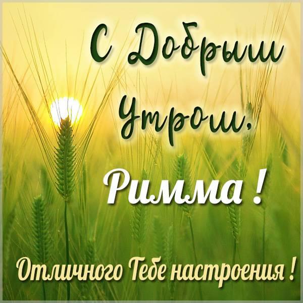 Картинка с добрым утром Римма - скачать бесплатно на otkrytkivsem.ru