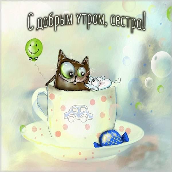 Картинка с добрым утром смешная сестре - скачать бесплатно на otkrytkivsem.ru