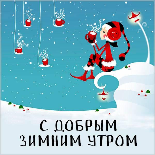 Картинка с добрым зимним утром прикольная смешная - скачать бесплатно на otkrytkivsem.ru
