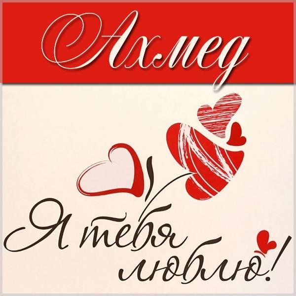 Картинка с именем Ахмед я тебя люблю - скачать бесплатно на otkrytkivsem.ru