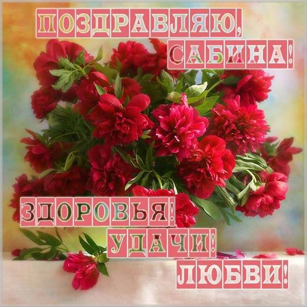 Картинка с именем Сабина - скачать бесплатно на otkrytkivsem.ru