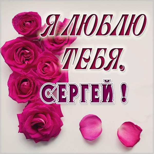 Картинка с именем Сергей я тебя люблю - скачать бесплатно на otkrytkivsem.ru